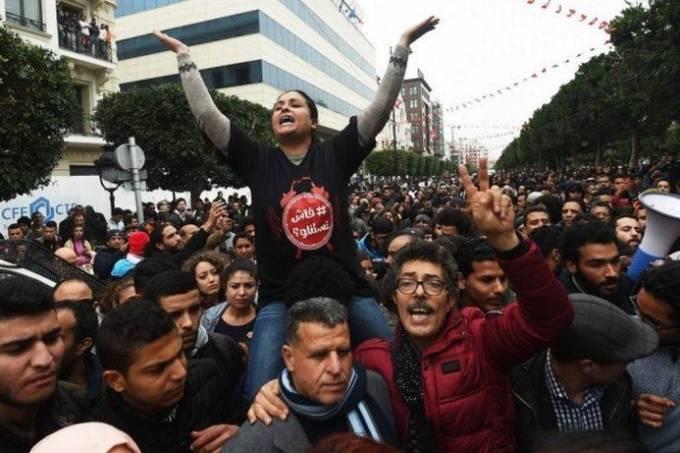 Protestos, Tunísia