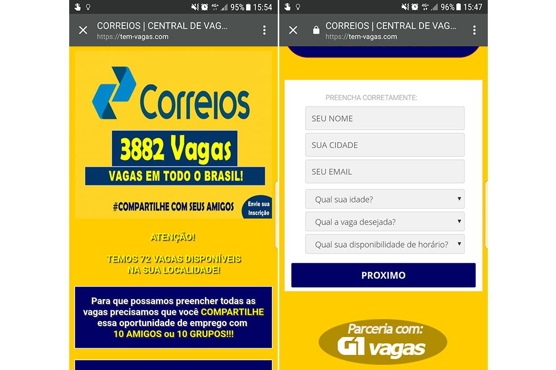 Golpe promete emprego nos Correios com salário de quase R$ 5 mil