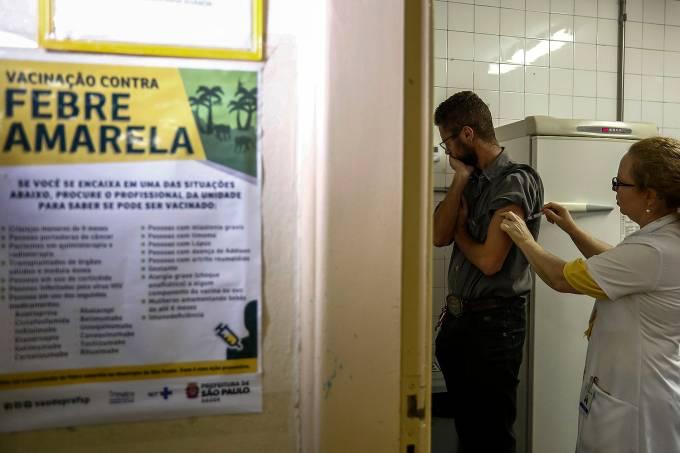 Vacinação contra a febre amarela em São Paulo – 12/01/2018