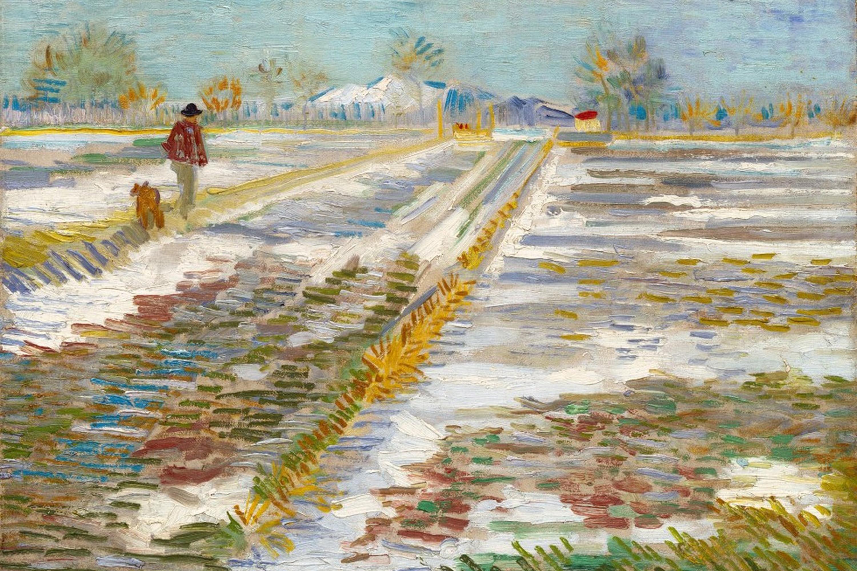 'Landscape with Snow' - Van Gogh