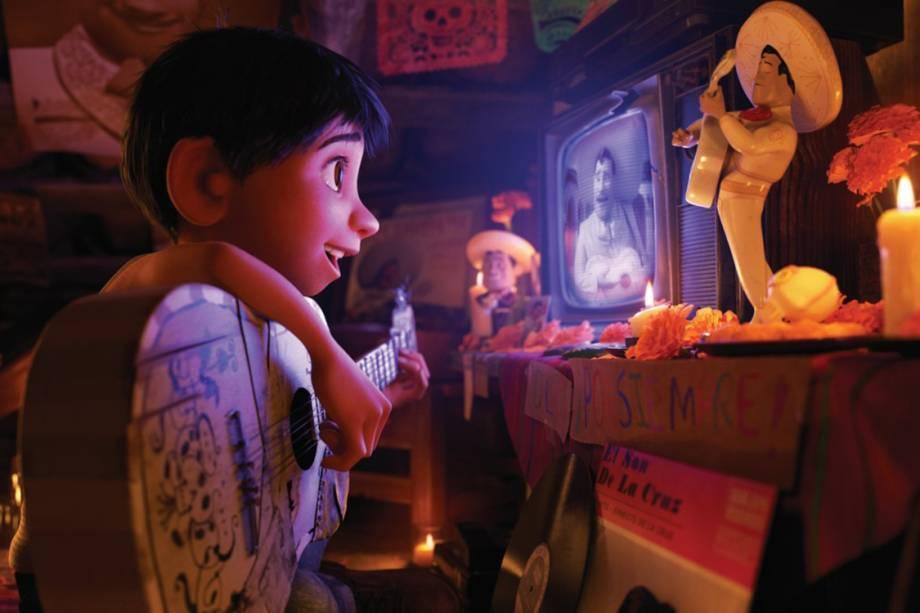 Miguel no filme 'Viva - A Vida É uma Festa'