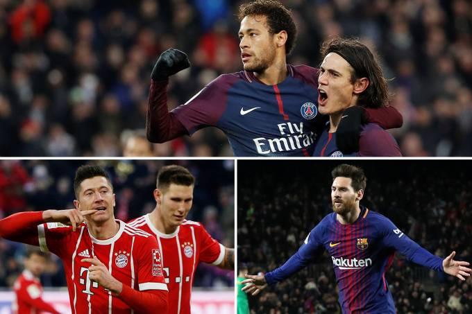 PSG, Bayern de Munique e Barcelona