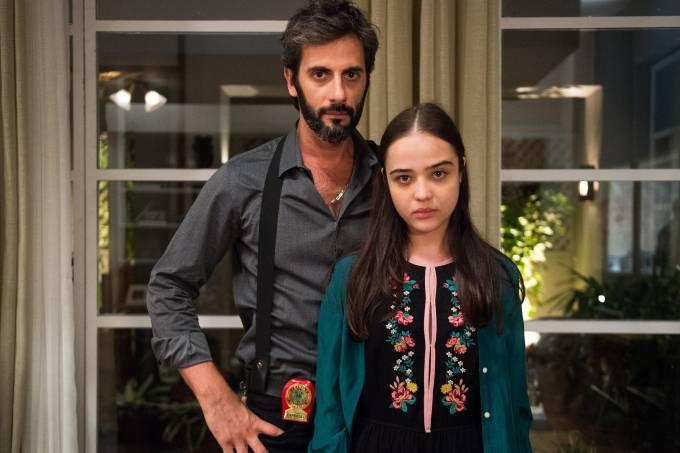 Vinicius (Flavio Tolezani), coach de Laura (Bella Piero) em 'O Outro Lado do Paraíso'