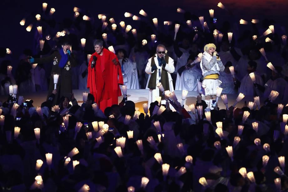 Cantores dão show na abertura dos Jogos Olímpicos de Inverno Pyeongchang - 09/02/2018