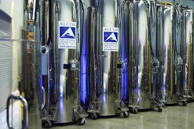 Cápsulas de congelamento da empresa 'Alcor'
