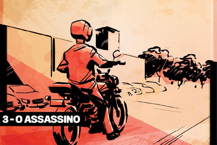 3 - O assassino: um homem misterioso, vestido de blusa azul e calça jeans, procurou por Roberto do PT na sede de sua empresa, em Candeias, na região metropolitana de Salvador. Nas duas primeiras tentativas, eles se desencontraram. Em 17 de janeiro, a data do crime, o assassino esperou por sua vítima durante quatro horas e meia em cima de uma motocicleta vermelha