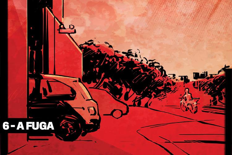 6 - A fuga: certificado de que havia cumprido sua missão, o assassino saiu caminhando, sem pressa. Ele montou em sua moto de 125 cilindradas e pegou a rodovia em direção a Salvador. Pouco tempo depois, policiais chegaram ao local