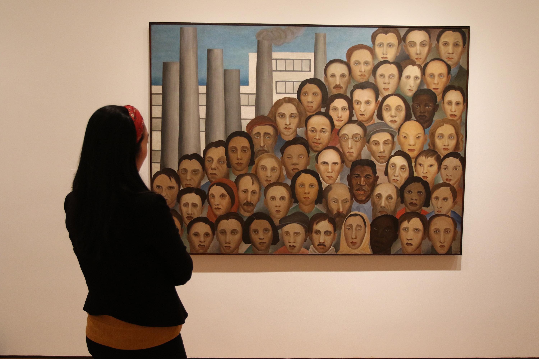 A obra 'Operários' de 1933 em exposição no Moma, em Nova York