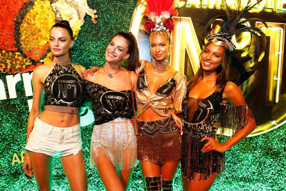 Laís Ribeiro, Adriana Lima, Jasmine Tooks e Barbara Fialho: as Angels da Victoria Secret´s, no Rio de Janeiro (RJ)