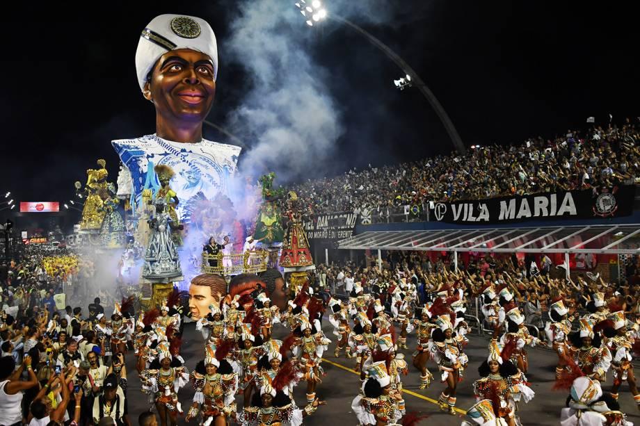 Com o enredo 'Sambar com fé eu vou', a escola de samba Vai-Vai homenageia o cantor e compositor Gilberto Gil - 11/02/2018