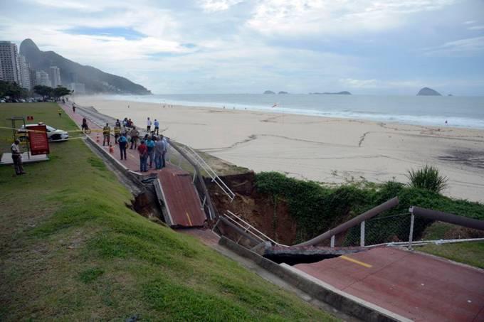 Chuva provoca estragos no Rio de Janeiro