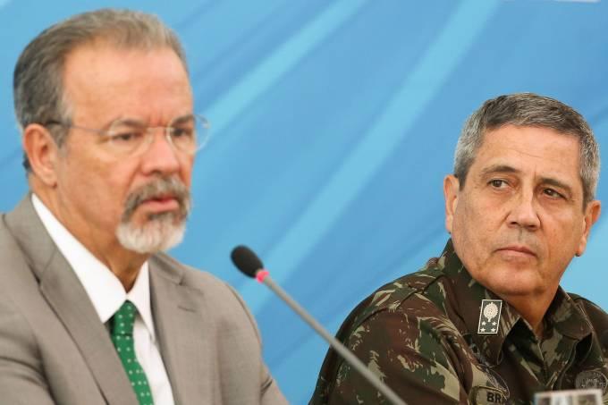 Raul Jungmann e o General Braga Netto