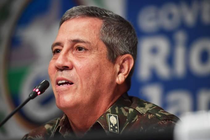 O interventor do Estado do Rio de Janeiro, General Braga Netto