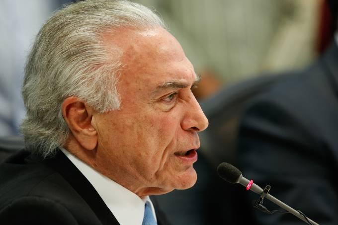 Temer participa de reunião no Palácio Guanabara, no Rio