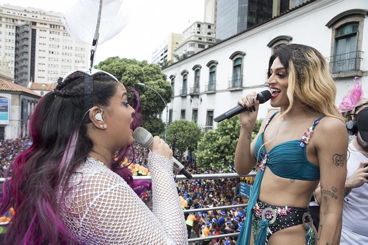 Preta Gil e Pabllo Vittar agitam o 'Bloco da Preta' , no Rio de Janeiro (RJ) - 04/02/2018
