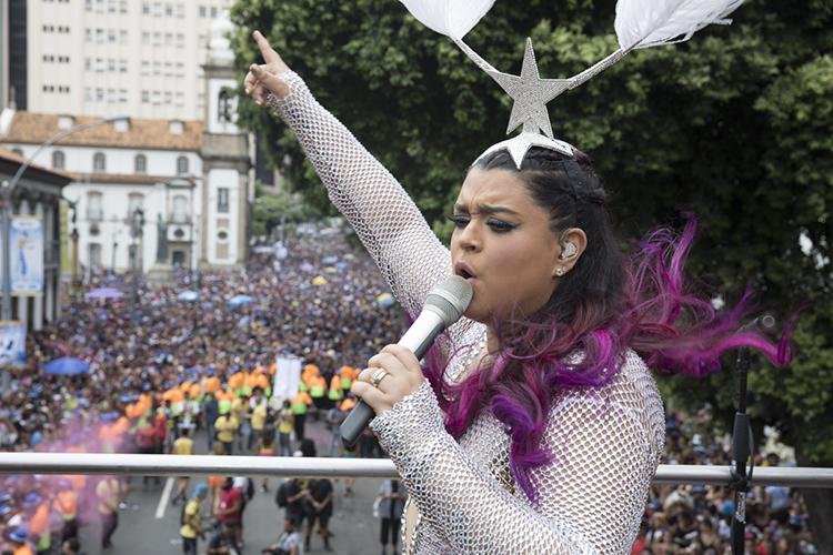 Preta Gil agita multidão durante desfile do 'Bloco da Preta', no Rio de Janeiro (RJ) - 04/02/2018