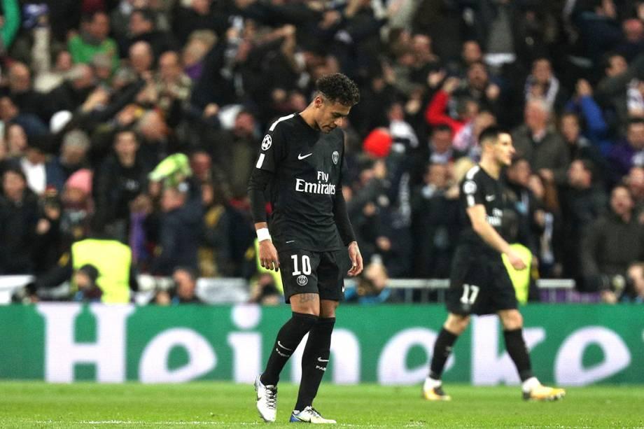 Neymar lamenta a derrota para o Real Madrid