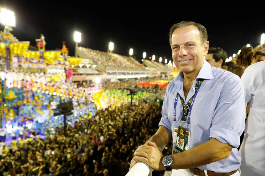 O prefeito de São Paulo, João Doria no Camarote N1 na Marquês de Sapucaí - 12/02/2018
