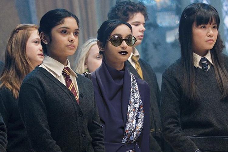 Cena da franquia 'Harry Potter', com looks de moda da Dior
