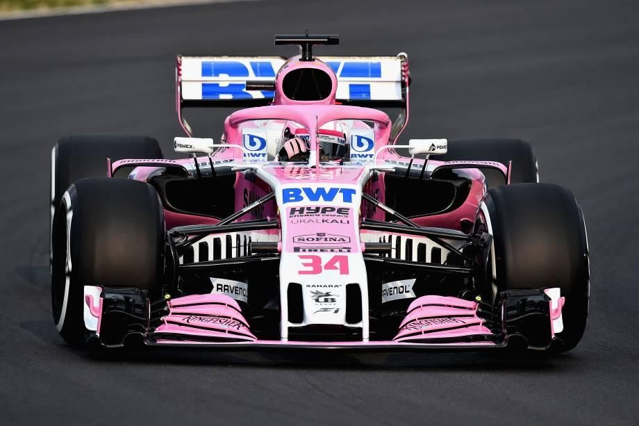 Force India realiza testes com o novo carro VJM11, no Circuito da Catalonia, para a temporada 2018 da Fórmula 1 - 26/02/2018