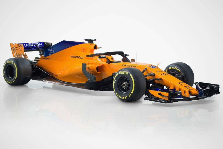 Equipe da McLaren divulga fotos do MCL 33, o novo carro para a temporada 2018 da Fórmula 1, em Woking, no Reino Unido - 23/02/2018