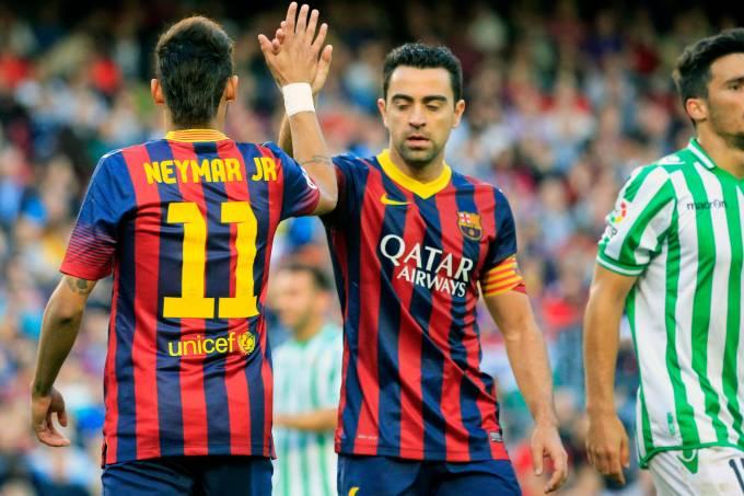Neymar e Xavi Hernandez