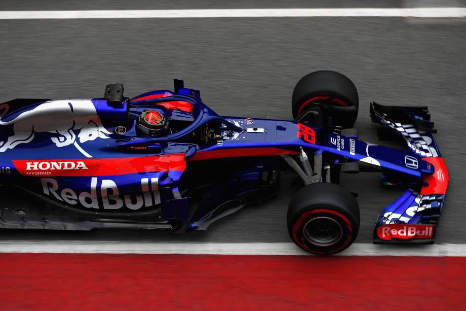Scuderia Toro Rosso realiza testes com o novo carro STR13, no Circuito da Catalonia, para a temporada 2018 da Fórmula 1 - 26/02/2018