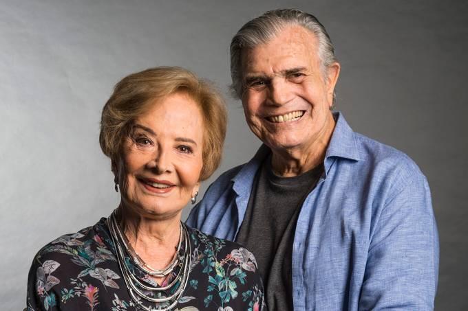 Glória Menezes e Tarcisio Meira em campanha de fim de ano da Globo, em 2016