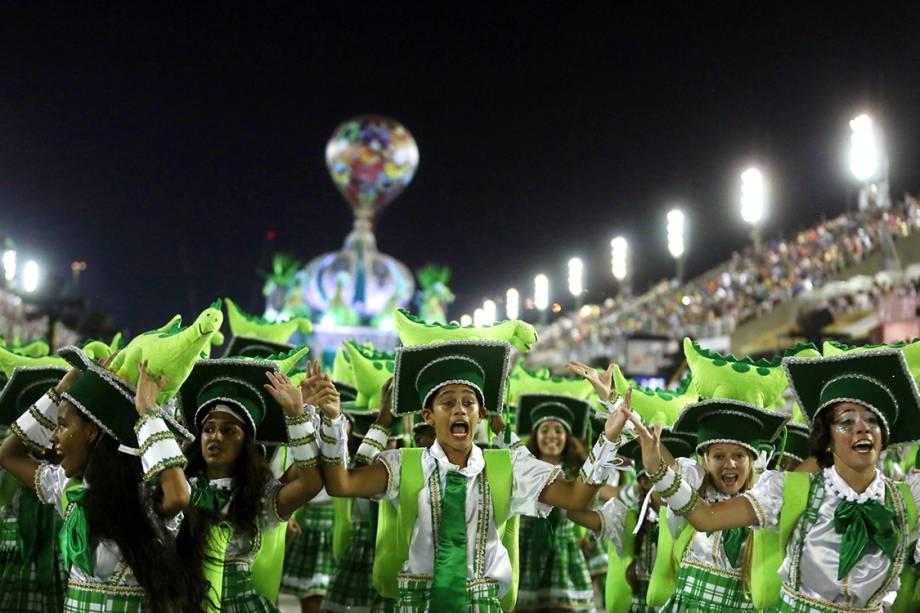 Com o samba-enredo 'Uma Noite Real No Museu Nacional', a Imperatriz Leopoldinense foi a penúltima a desfilar pelo Grupo Especial do Rio