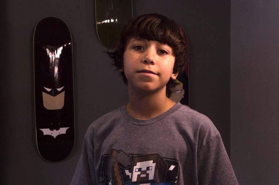 Erick, 11 anos, aluno da Happy Code - 27/02/2018