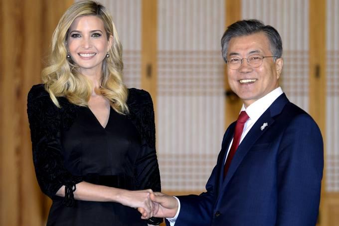 Ivanka Trump e Moon Jae-In