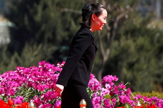Kim Yo Jong, irmã do líder norte-coreano, Kim Jong Un