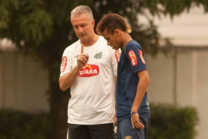 Dorival Junior e Neymar