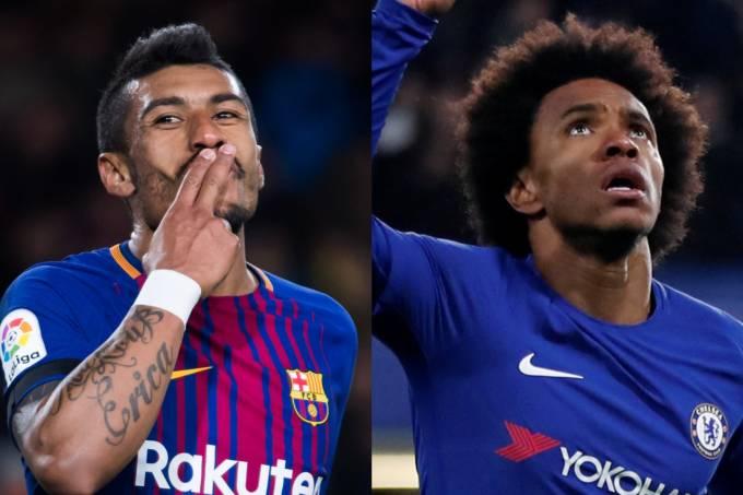 Chelsea x Barcelona – Paulinho e William