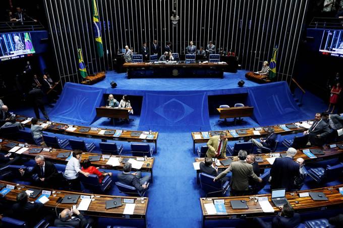 Plenário do Senado durante votação do decreto de intervenção federal no estado do Rio de Janeiro