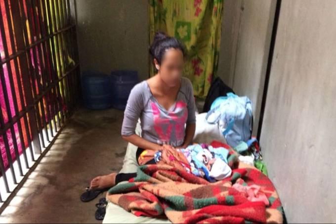 Mulher presa com recém nascido em São Paulo