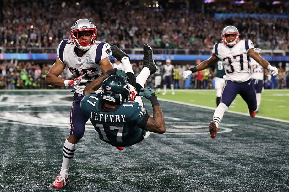 Alshon Jeffery, do Philadelphia Eagles, em recepção para 'touchdown'