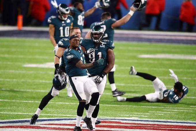 Jogadores do Philadelphia Eagles comemoram a conquista do Super Bowl 2018 – 4/2/2018