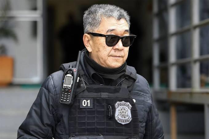 O agente da Polícia Federal Newton Hidenori Ishii, o japonês da Federal