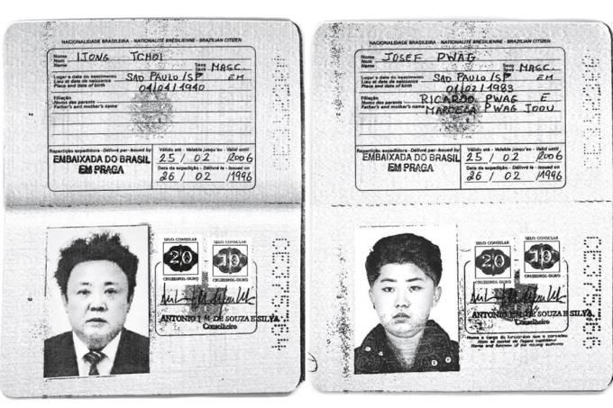 Passaportes autênticos emitido para a Coreia do Norte