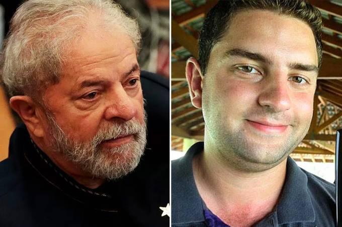 O ex-presidente Lula e seu filho Luís Cláudio Lula da Silva