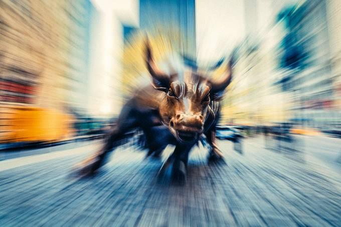 Touro de Wall Street, em Nova York