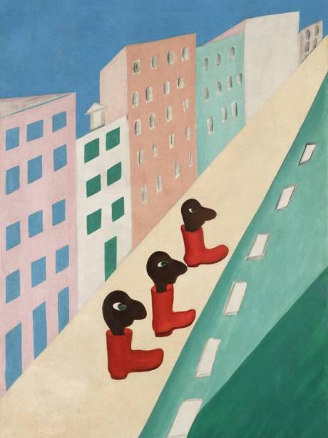 'A Rua', de Tarsila do Amaral (1923)