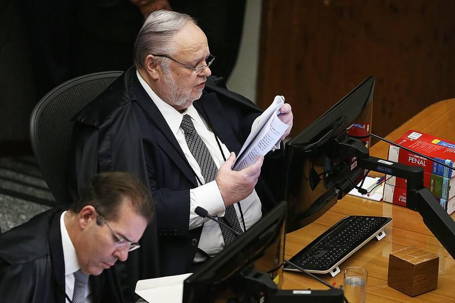 O Ministro do Superior Tribunal de Justiça (STJ), Felix Fischer, relator do pedido do ex-presidente Luiz Inácio Lula da Silva para evitar prisão após segunda instância - 06/03/2018