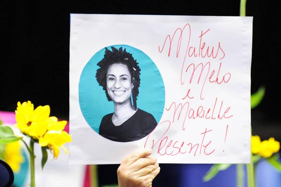 Deputados realizam homenagem à Marielle Franco (PSOL-RJ), morta a tiros dentro de veículo - 15/03/2018