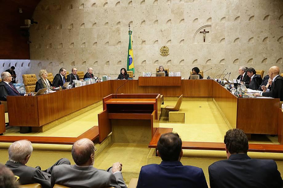 Ministros do Supremo Tribunal Federal (STF) julgam habeas corpus preventivo do ex-presidente Lula - 22/03/2018