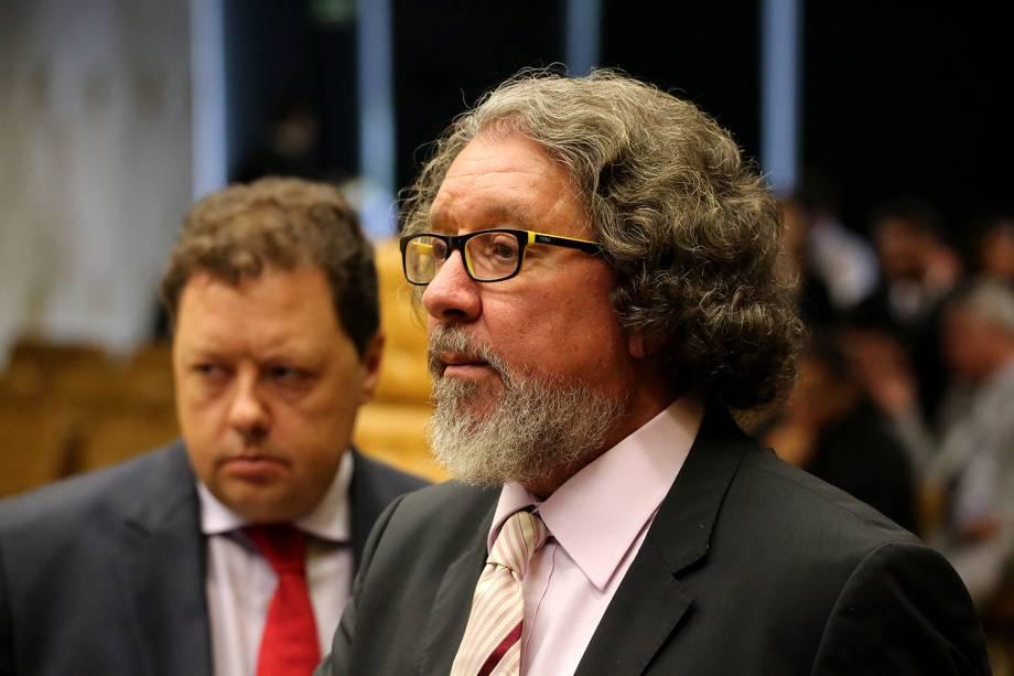 O advogado Antônio Carlos de Almeida Castro, Kakay em sessão no Supremo Tribunal Federal, em Brasília (DF), que julgará o habeas corpus para o ex presidente do Brasil, Luiz Inácio Lula da Silva - 22/03/2018