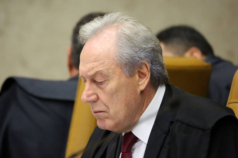 O ministro Ricardo Lewandowski em sessão no Supremo Tribunal Federal, em Brasília (DF) - 22/03/2018