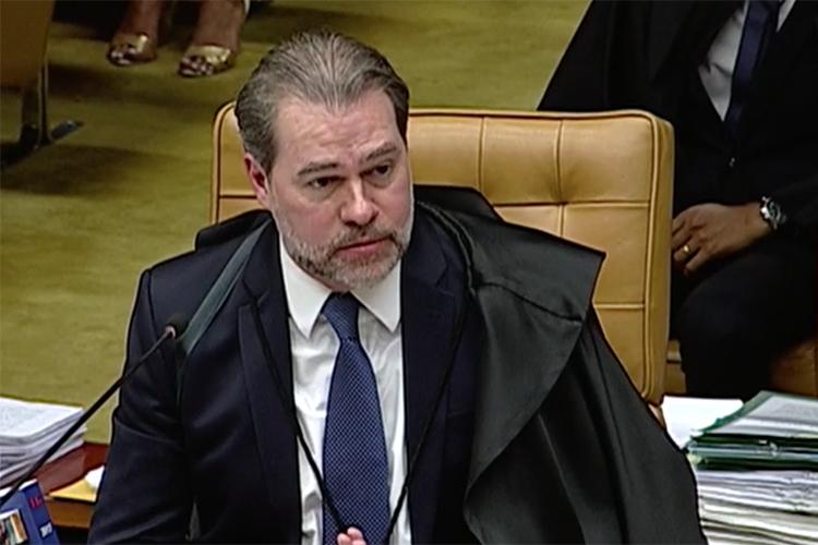 O ministro Dias Toffoli em sessão no Supremo Tribunal Federal, em Brasília (DF) - 22/03/2018