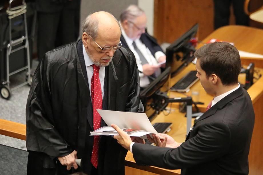 O advogado de Lula, Sepúlveda Pertence, durante julgamento pedido de habeas corpus do ex-presidente Lula - 06/03/2018